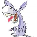 Funny Purple Donkey, illustration — Stock Vector #16190293
