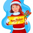 Merry Christmas greeting, illustration — Stock Vector