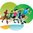 Vector de stock : Running, illustration