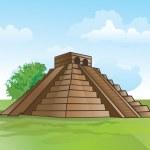 pirâmide Maia, ilustração — Vetorial Stock