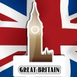 United Kingdom, Great Britain, illustration — Image vectorielle