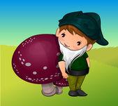 Gnome, illustration — Stock Vector