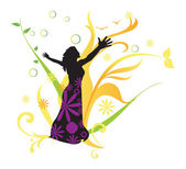 Women's Health, illustration — Stock Vector