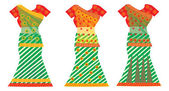 Indian Dresses, illustration — Stock Vector
