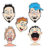 Laughing guys, illustration — Stock Vector