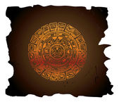 Mayan calendar, illustration — Stock Vector