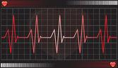 Heartbeat monitor, illustration — Stock Vector