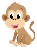 Baby monkey, illustration — Stock Vector