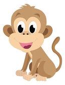 Baby monkey, illustration — Stock Vector