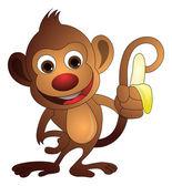 Monkey, illustration — Stock Vector