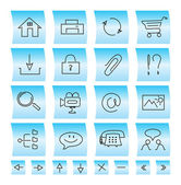 Website icons and buttons, illustration — Stock Vector