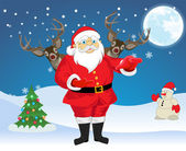 Santa Claus, illustration — Stock Vector