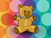 Teddy Bear, illustration — Stock Vector