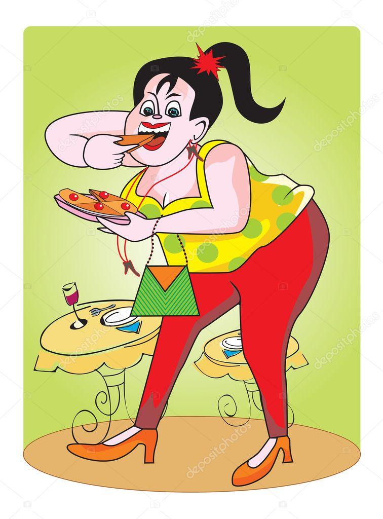 depositphotos 16190557 Fat girl illustration Hot Lesbian Sex Gif