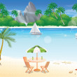 Day at the Beach, illustration — Stock Vector #16201867