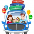 Stock Vector: Family Vacation, illustration