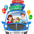 Family Vacation, illustration - Stock Vector