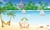 Day at the Beach, illustration — Stock Vector