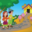 Vector de stock : Hansel and Gretel, illustration