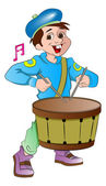 Little Drummer Boy, illustration — Stock Vector
