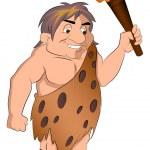 Caveman Holding a torch, illustration — Stock Vector #16910225