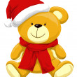 Christmas Teddy Bear, illustration -  