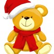 Christmas Teddy Bear, illustration - Image vectorielle
