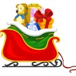 Stock Vector: Santa's Sleigh, illustration