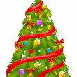 Christmas Tree, illustration - Image vectorielle