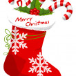 Christmas Stocking, illustration - Image vectorielle