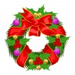 Christmas Wreath, illustration - Image vectorielle