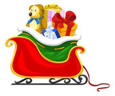 Santa's Sleigh, illustration — Stock Vector