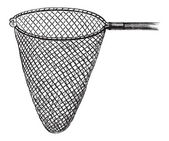 Shrimping Net, vintage engraving — Stock Vector