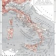 Topographical Map of Ancient Italy, vintage engraving — Stock Photo