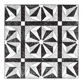 Mosaic, vintage engraving — Stock Vector