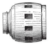 Wheel Hub, vintage engraving — Stock Vector