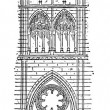 Nave of the Amiens Cathedral in Amiens, France, vintage engravin — Stock Vector