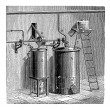 Stockvector : Production of Aniline, vintage engraving