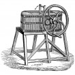 Rowan Butter Churn, vintage engraving — Stock Vector