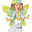 Vector of girl in fairy costume. - Imagen vectorial