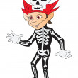 Boy in a Halloween Costume, illustration - Vettoriali Stock