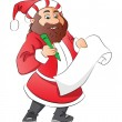 Vector of santa claus with wish list. - Imagen vectorial