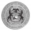 Seal of the state of Michigan, vintage engraving — Stock Vector #6752916