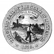Seal of the State of Minnesota, vintage engraving. — Stock Vector #6754077