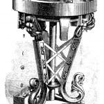 Machine reel, vintage engraving. — Stock Vector #6754104