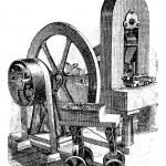 Hit machine, vintage engraving — Stock Vector #6754109
