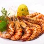 Grilled shrimp — Stock Photo #19131547