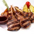 Stock Photo: Grilled rack of veal
