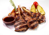 Grilled rack of veal — Stock Photo