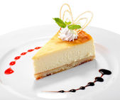 Studio cheesecake girato — Foto Stock